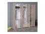 Ντουλάπα ρούχων Dynamic εξάφυλλη με συρτάρια χρώμα light sonoma 206x52x213εκ.  039-000085 - 3