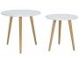 Βοηθητικά τραπέζια σαλονιού SMITH  σετ 2τμχ χρώμα λευκό ματ-φυσικό 058-000001 - 3