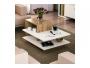 Τραπέζι σαλονιού χρώμα καρυδί - λευκό 85x60x43.5εκ  071-000881 - 2