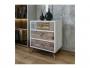 Συρταριέρα PWF-0320 χρώμα λευκό γκρι-καρυδί 50x35x68 εκ.  071-000897 - 2