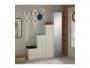 Έπιπλο εισόδου-παπουτσοθήκη UP  10 ζεύγων κρεμάστρα antique λευκό 150x37x180 εκ.  119-000658 - 1