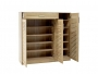 Παπουτσοθήκη-ντουλάπι SANTE 30 ζεύγων χρώμα sonoma 120x37x123 εκ.  123-000003 - 2