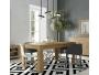 Τραπέζι τραπ/ρίας με φύλλο  πόδι γωνία Dining table angle leg 77x150x90+42  11421514 - 3