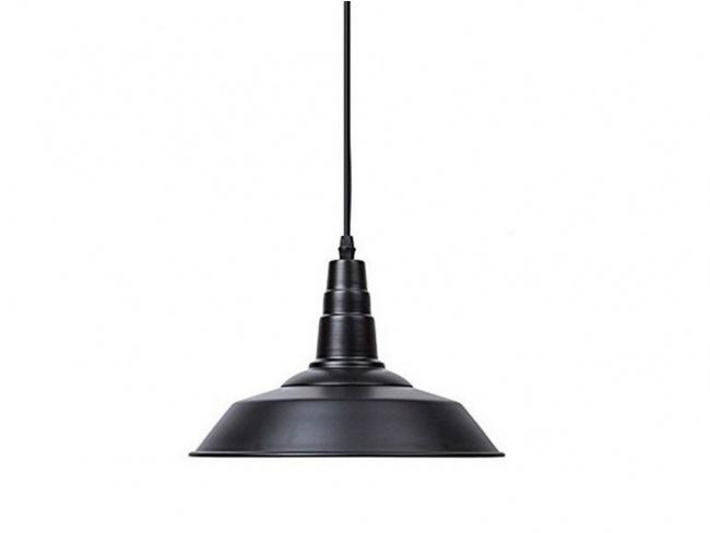 Vintage Industrial Κρεμαστό Φωτιστικό Οροφής Μονόφωτο Μαύρο Μεταλλικό Καμπάνα Φ26 RAY BLACK 01050