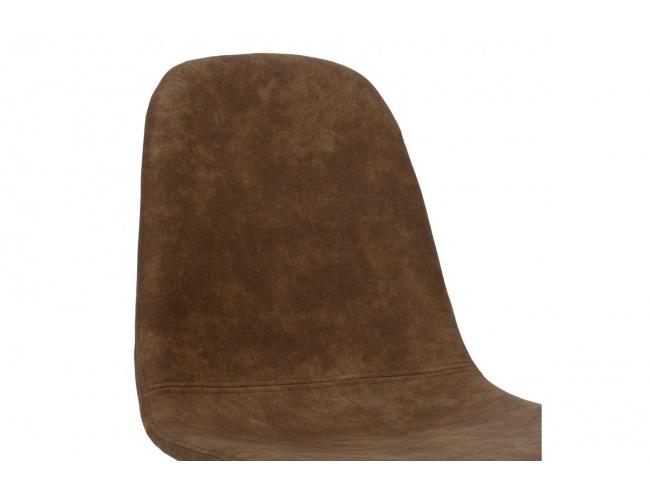 Καρέκλα Bella μεταλλική μαύρη με pu antique καφέ  029-000014 - 5