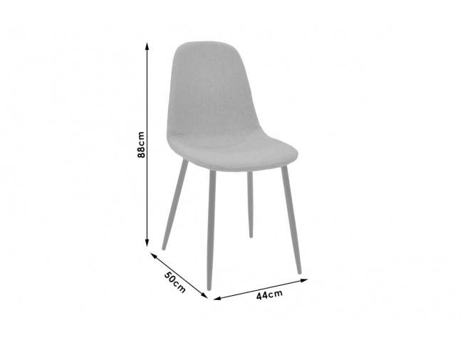 Καρέκλα Bella μεταλλική μαύρη με pu antique καφέ  029-000014 - 7