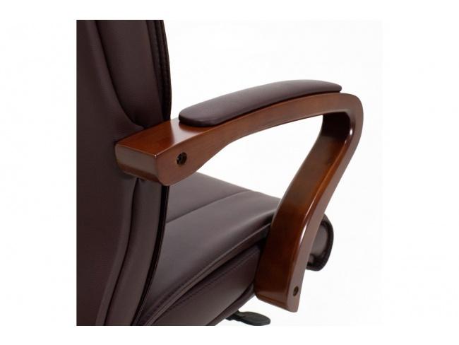 Καρέκλα γραφείου διευθυντή Kansas SUPREME QUALITY ξύλο-pu σκούρο καφέ 045-000003 - 7