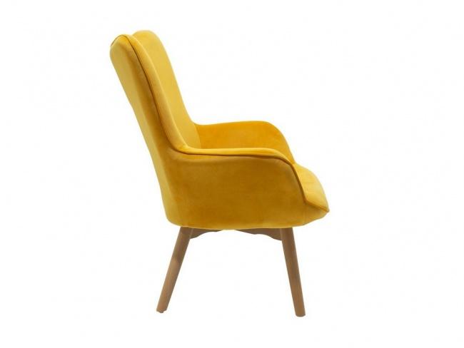 Πολυθρόνα Kido υφασμάτινη βελούδο χρώμα κίτρινο 046-000003 - 5