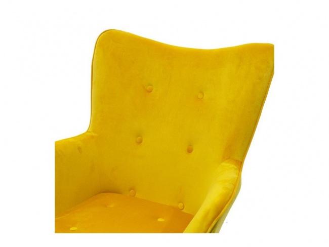 Πολυθρόνα Kido υφασμάτινη βελούδο χρώμα κίτρινο 046-000003 - 6