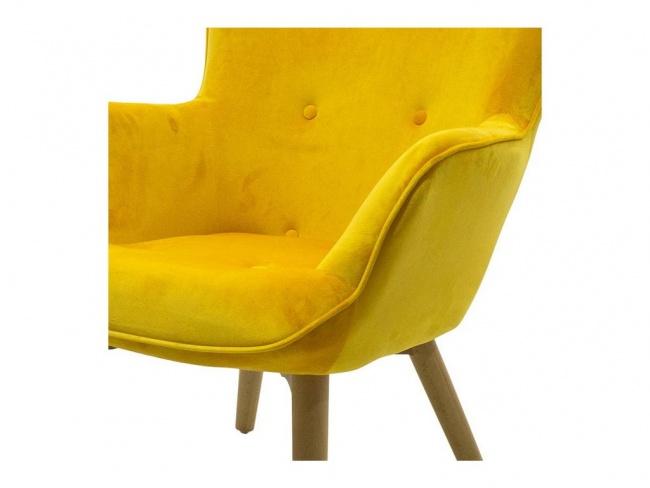 Πολυθρόνα Kido υφασμάτινη βελούδο χρώμα κίτρινο 046-000003 - 7