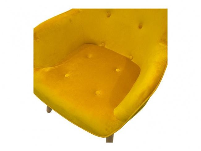 Πολυθρόνα Kido υφασμάτινη βελούδο χρώμα κίτρινο 046-000003 - 8