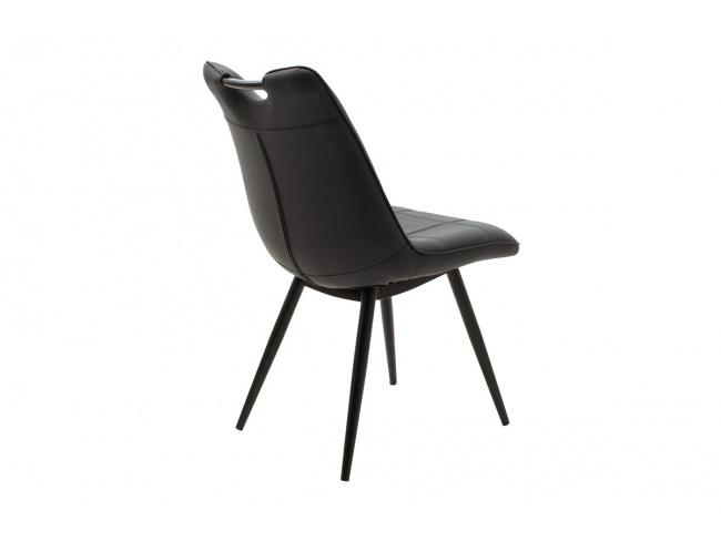 Καρέκλα Nely μεταλλική μαύρη με pu μαύρο 058-000017 - 2
