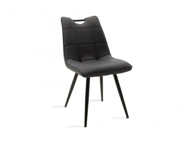 Καρέκλα Nely μεταλλική μαύρη με pu μαύρο 058-000017 - 1