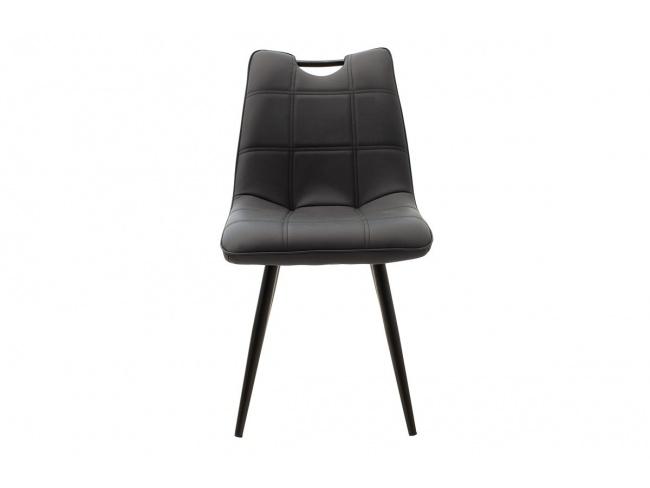 Καρέκλα Nely μεταλλική μαύρη με pu μαύρο 058-000017 - 4