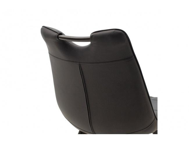 Καρέκλα Nely μεταλλική μαύρη με pu μαύρο 058-000017 - 5