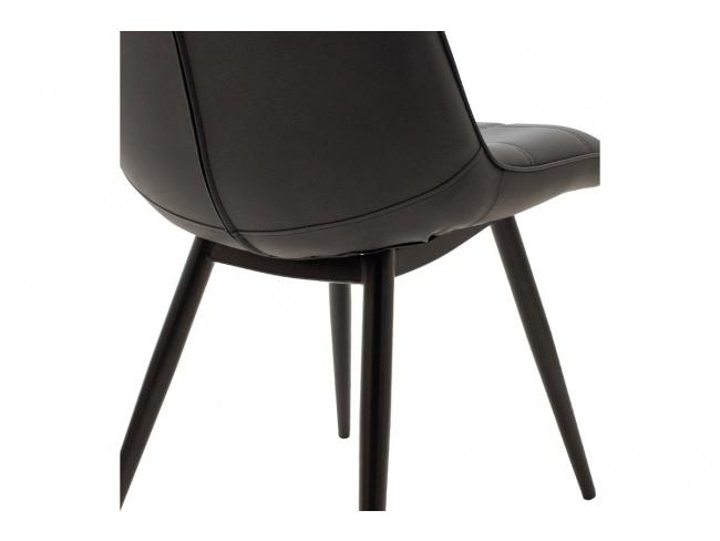 Καρέκλα Nely μεταλλική μαύρη με pu μαύρο 058-000017 - 6