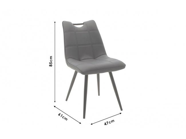Καρέκλα Nely μεταλλική μαύρη με pu μαύρο 058-000017 - 9