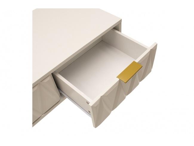 Κονσόλα Isla χρώμα λευκό painting-χρυσό 80x39x74εκ 066-000008 - 4