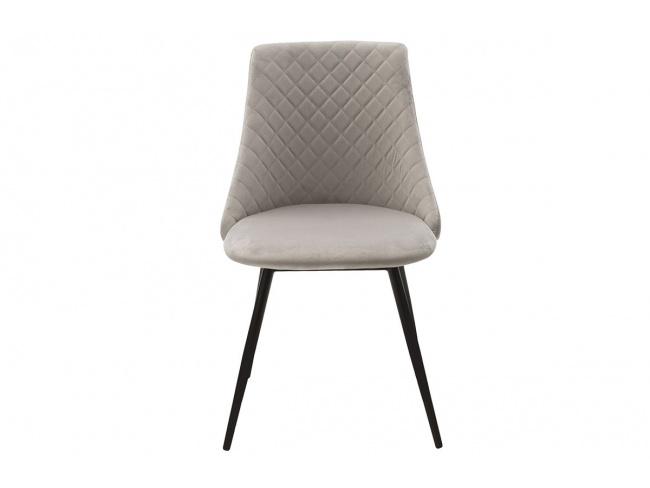 Καρέκλα Giselle 096-000021  ύφασμα βελουτέ γκρι με μαυρα μεταλικα ποδια 82Χ52Χ51 - 3