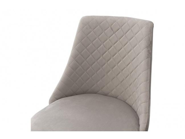 Καρέκλα Giselle 096-000021  ύφασμα βελουτέ γκρι με μαυρα μεταλικα ποδια 82Χ52Χ51 - 4