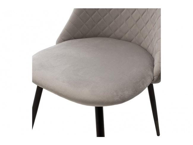 Καρέκλα Giselle 096-000021  ύφασμα βελουτέ γκρι με μαυρα μεταλικα ποδια 82Χ52Χ51 - 5