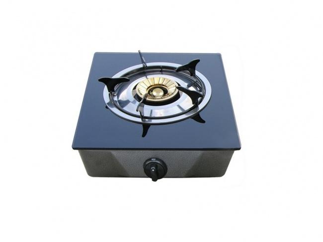 Επιτραπεζια εστια υγραεριου 1 εστιας με κρυσταλλο BLACKBULL Bluegas1 BLG01