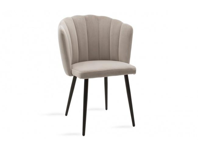 Καρέκλα Esme μεταλλική  με βελούδο γκρι  101-000012 - 1