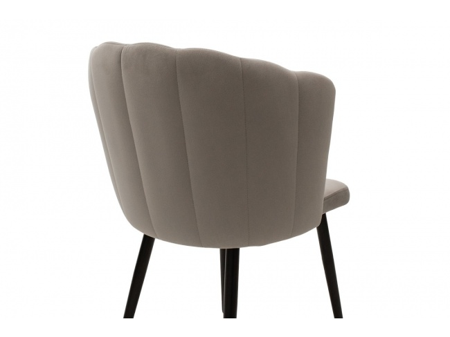 Καρέκλα Esme μεταλλική  με βελούδο γκρι  101-000012 - 2