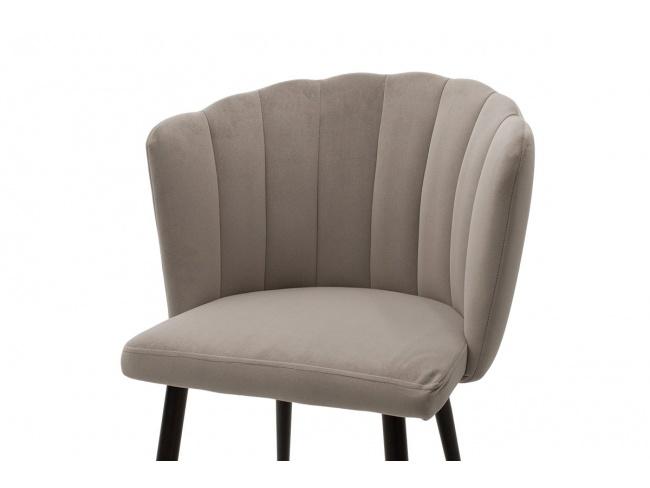 Καρέκλα Esme μεταλλική  με βελούδο γκρι  101-000012 - 5