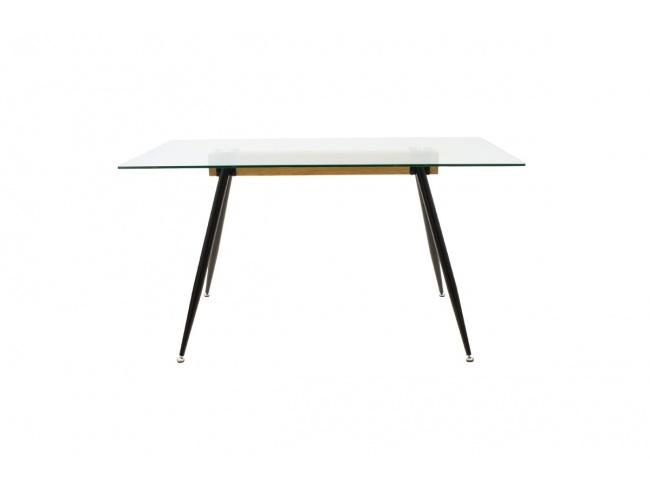 Τραπέζι Astrid γυάλινο 10χιλ - πόδι μαύρο 101-000019 - 1
