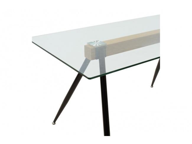 Τραπέζι Astrid γυάλινο 10χιλ - πόδι μαύρο 101-000019 - 2