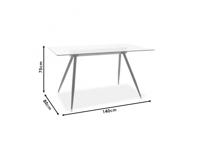 Τραπέζι Astrid γυάλινο 10χιλ - πόδι μαύρο 101-000019 - 4