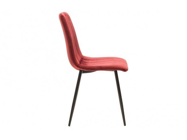 Καρέκλα Noor μεταλλική μαύρη με βελούδο σκουρο κοκκινο 101-000034 - 3