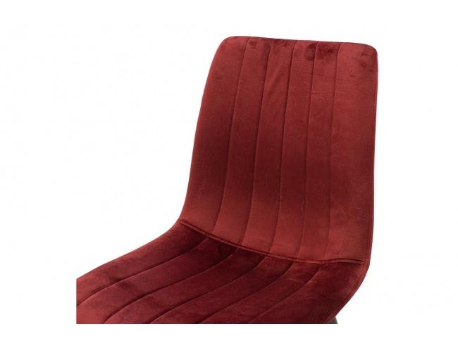 Καρέκλα Noor μεταλλική μαύρη με βελούδο σκουρο κοκκινο 101-000034 - 5