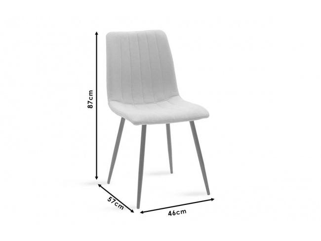 Καρέκλα Noor μεταλλική μαύρη με βελούδο σκουρο κοκκινο 101-000034 - 7