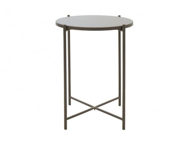 Βοηθητικό τραπέζι σαλονιού Lima ανθρακί 43.5x43.5x53εκ 104-000011 - 1