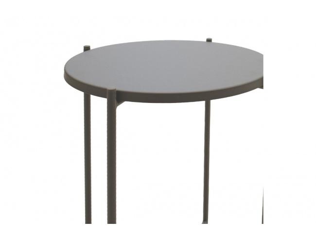 Βοηθητικό τραπέζι σαλονιού Lima ανθρακί 43.5x43.5x53εκ 104-000011 - 2