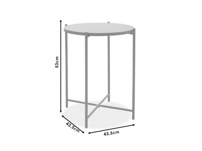 Βοηθητικό τραπέζι σαλονιού Lima ανθρακί 43.5x43.5x53εκ 104-000011 - 4