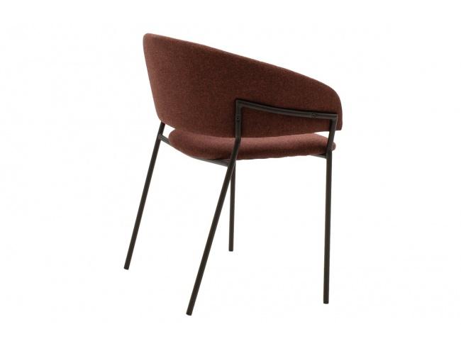 Πολυθρόνα Maggie μεταλλική μαύρη-ύφασμα κεραμιδί 112-000005 - 2
