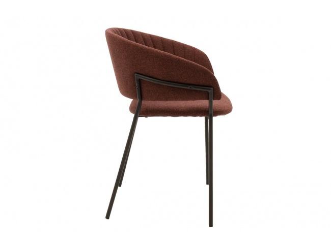 Πολυθρόνα Maggie μεταλλική μαύρη-ύφασμα κεραμιδί 112-000005 - 3