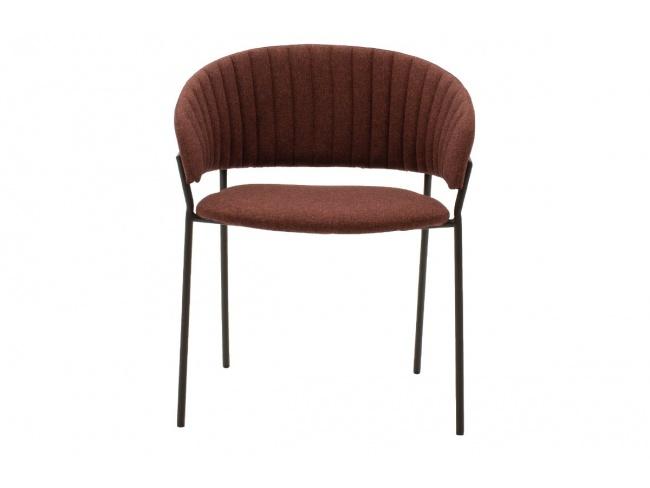 Πολυθρόνα Maggie μεταλλική μαύρη-ύφασμα κεραμιδί 112-000005 - 4