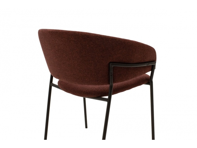 Πολυθρόνα Maggie μεταλλική μαύρη-ύφασμα κεραμιδί 112-000005 - 5
