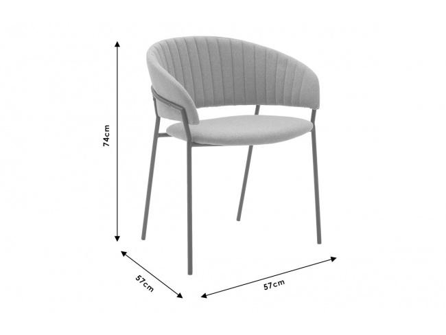 Πολυθρόνα Maggie μεταλλική μαύρη-ύφασμα κεραμιδί 112-000005 - 7