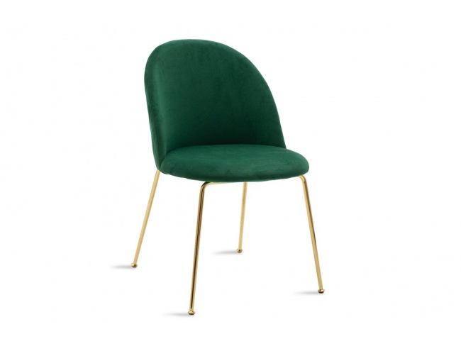 Καρέκλα Ruth μεταλλική χρυσό-βελούδο κυπαρισσί  112-000016 - 1