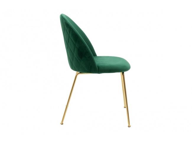 Καρέκλα Ruth μεταλλική χρυσό-βελούδο κυπαρισσί  112-000016 - 8