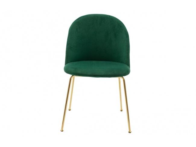 Καρέκλα Ruth μεταλλική χρυσό-βελούδο κυπαρισσί  112-000016 - 7