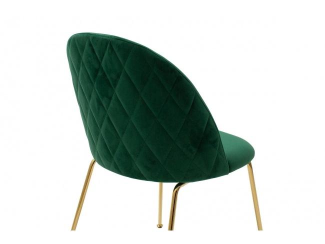 Καρέκλα Ruth μεταλλική χρυσό-βελούδο κυπαρισσί  112-000016 - 2