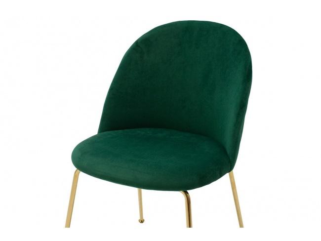 Καρέκλα Ruth μεταλλική χρυσό-βελούδο κυπαρισσί  112-000016 - 3