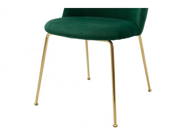 Καρέκλα Ruth μεταλλική χρυσό-βελούδο κυπαρισσί  112-000016 - 4