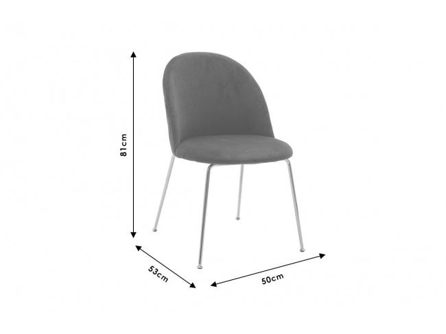 Καρέκλα Ruth μεταλλική χρυσό-βελούδο κυπαρισσί  112-000016 - 5